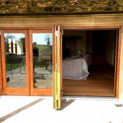 Hardwood folding sliding doors, Exeter, Devon