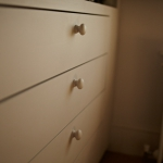 Bespoke drawers manufactured for a walk in wardrobe by James Riggall Fine Joinery of Exeter