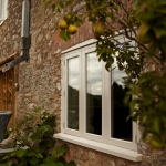White traditional casement hardwood windows by James Riggall Fine Joinery in Exeter, Devon