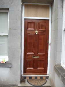Beautifully bespoke, solid hardwood, six panel front door