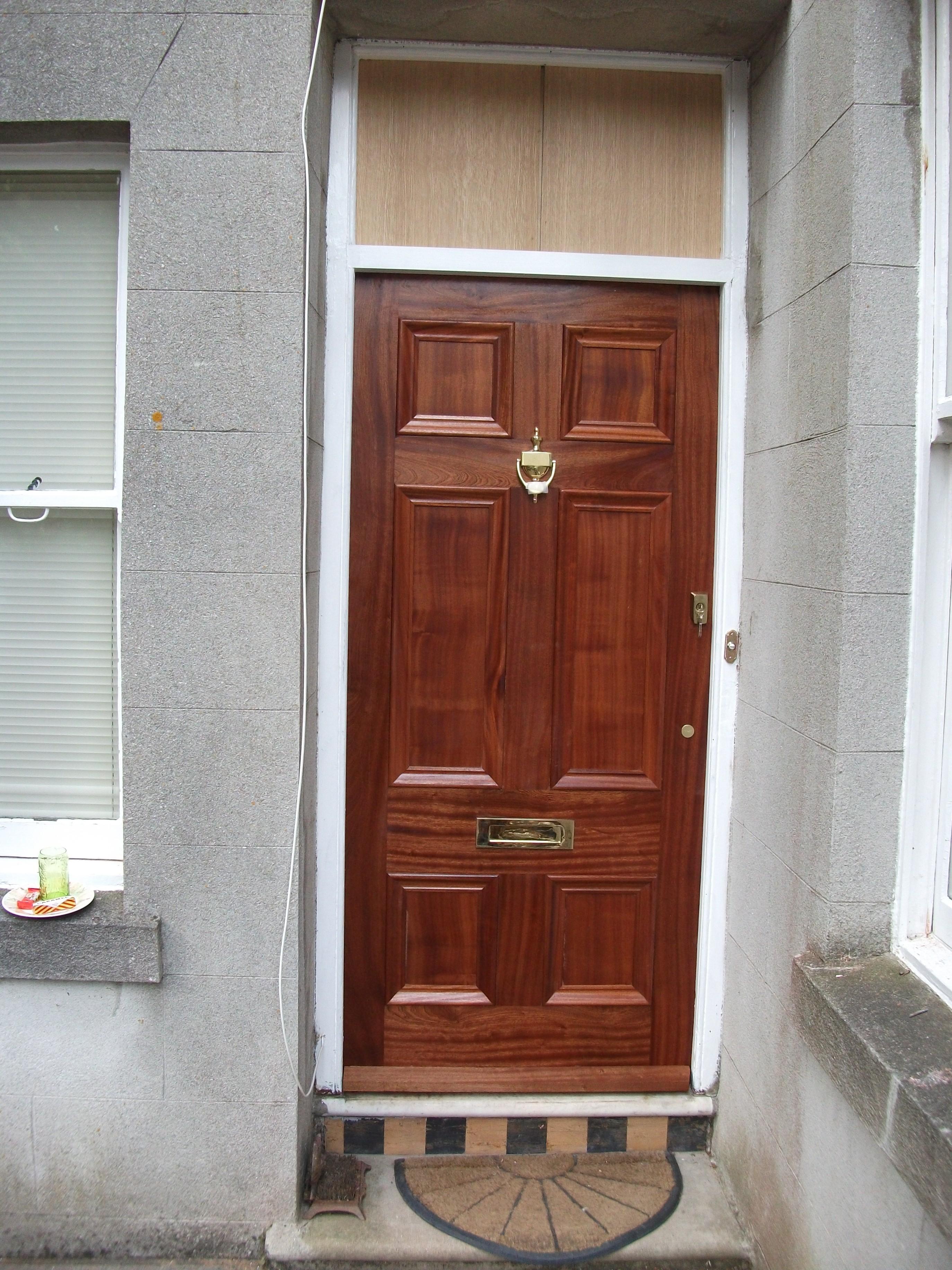 Beautifully Bespoke, Solid Hardwood, Six Panel Front Door Front Doors