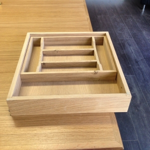 Bespoke insert to divide pens, pencils, rulers and rubbers in your office drawers