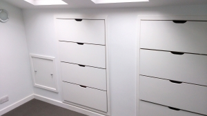 Set of James Riggall Fine Joinery bespoke drawers
