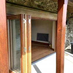 Hardwood Oak bi-fold doors by James Riggall Fine Joinery, Exeter